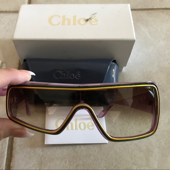 10e1fa4ae6e Chloe Accessories - VERY RARE Chloe Asymmetrical Sunglasses